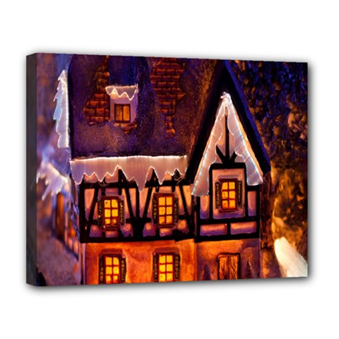 House In Winter Decoration Canvas 14  X 11  by Nexatart