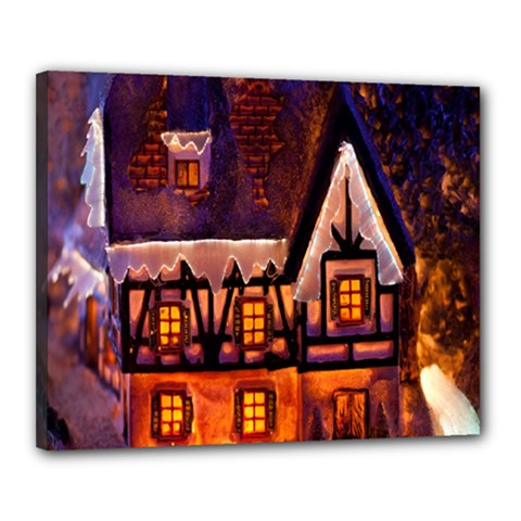 House In Winter Decoration Canvas 20  X 16  by Nexatart