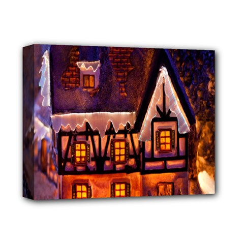 House In Winter Decoration Deluxe Canvas 14  X 11  by Nexatart