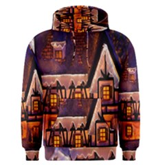 House In Winter Decoration Men s Pullover Hoodie by Nexatart