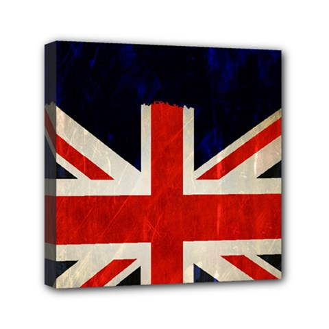 Flag Of Britain Grunge Union Jack Flag Background Mini Canvas 6  X 6  by Nexatart