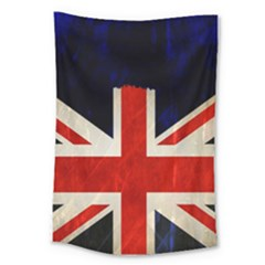 Flag Of Britain Grunge Union Jack Flag Background Large Tapestry by Nexatart