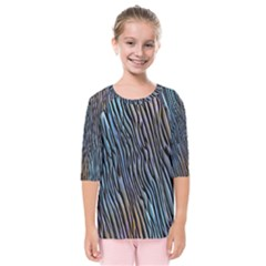Abstract Background Wallpaper Kids  Quarter Sleeve Raglan Tee