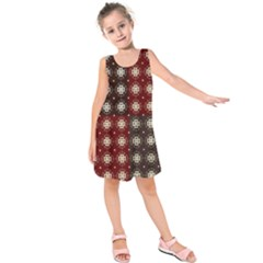 Decorative Pattern With Flowers Digital Computer Graphic Kids  Sleeveless Dress