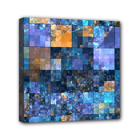 Blue Squares Abstract Background Of Blue And Purple Squares Mini Canvas 6  X 6  by Nexatart