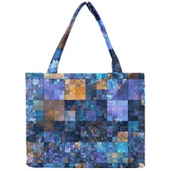 Blue Squares Abstract Background Of Blue And Purple Squares Mini Tote Bag by Nexatart