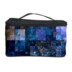 Blue Squares Abstract Background Of Blue And Purple Squares Cosmetic Storage Case by Nexatart