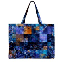 Blue Squares Abstract Background Of Blue And Purple Squares Medium Tote Bag by Nexatart