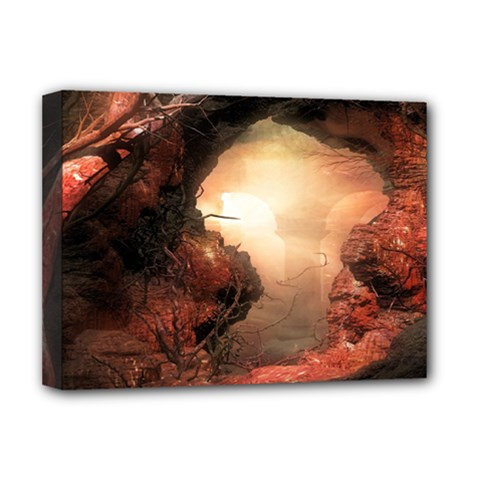 3d Illustration Of A Mysterious Place Deluxe Canvas 16  X 12   by Nexatart