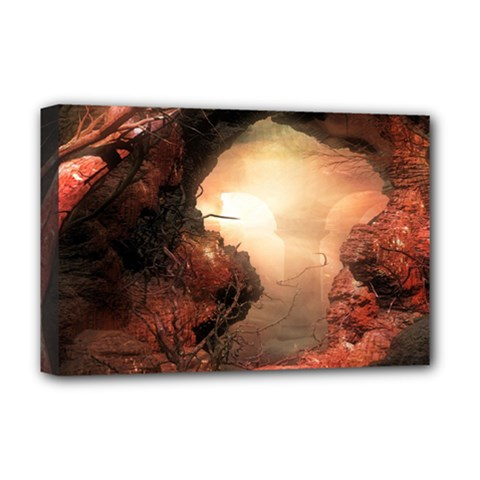 3d Illustration Of A Mysterious Place Deluxe Canvas 18  X 12