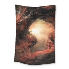 3d Illustration Of A Mysterious Place Small Tapestry by Nexatart