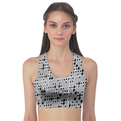 Metal Background With Round Holes Sports Bra