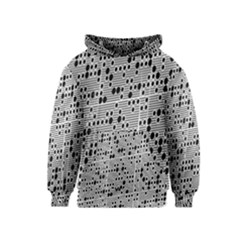 Metal Background With Round Holes Kids  Pullover Hoodie