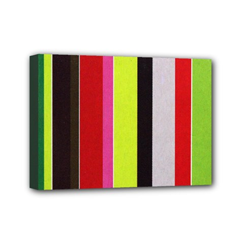 Stripe Background Mini Canvas 7  X 5  by Nexatart