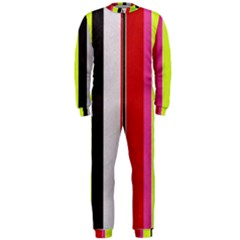 Stripe Background Onepiece Jumpsuit (men)