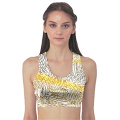 Abstract Composition Digital Processing Sports Bra
