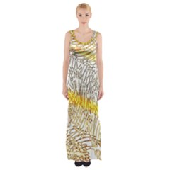Abstract Composition Digital Processing Maxi Thigh Split Dress