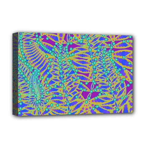 Abstract Floral Background Deluxe Canvas 18  X 12