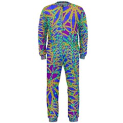 Abstract Floral Background Onepiece Jumpsuit (men)