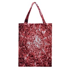Water Drops Red Classic Tote Bag by Nexatart