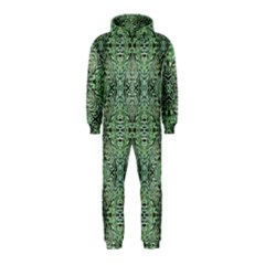 Seamless Abstraction Wallpaper Digital Computer Graphic Hooded Jumpsuit (kids)
