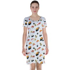 Sushi Lover Short Sleeve Nightdress by tarastyle
