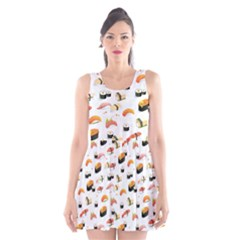 Sushi Lover Scoop Neck Skater Dress