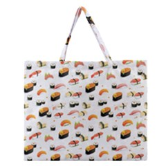 Sushi Lover Zipper Large Tote Bag by tarastyle