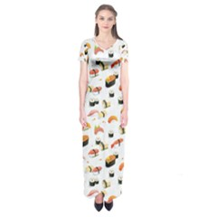Sushi Lover Short Sleeve Maxi Dress