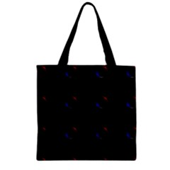 Tranquil Abstract Pattern Zipper Grocery Tote Bag by Nexatart