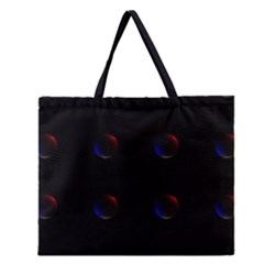 Tranquil Abstract Pattern Zipper Large Tote Bag by Nexatart
