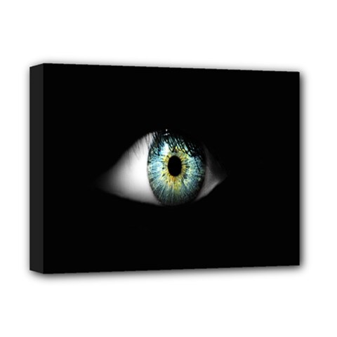 Eye On The Black Background Deluxe Canvas 16  X 12