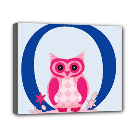 Alphabet Letter O With Owl Illustration Ideal For Teaching Kids Canvas 10  X 8  by Nexatart
