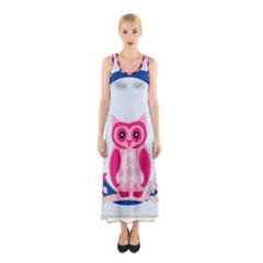 Alphabet Letter O With Owl Illustration Ideal For Teaching Kids Sleeveless Maxi Dress