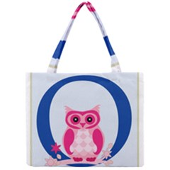 Alphabet Letter O With Owl Illustration Ideal For Teaching Kids Mini Tote Bag by Nexatart