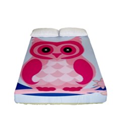 Alphabet Letter O With Owl Illustration Ideal For Teaching Kids Fitted Sheet (full/ Double Size)