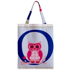 Alphabet Letter O With Owl Illustration Ideal For Teaching Kids Zipper Classic Tote Bag by Nexatart