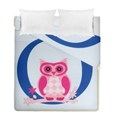 Alphabet Letter O With Owl Illustration Ideal For Teaching Kids Duvet Cover Double Side (full/ Double Size)