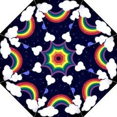 Rainbow Animation Hook Handle Umbrellas (large) by Nexatart