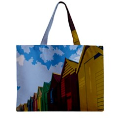 Brightly Colored Dressing Huts Mini Tote Bag by Nexatart