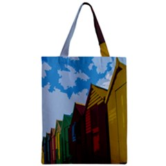 Brightly Colored Dressing Huts Zipper Classic Tote Bag by Nexatart