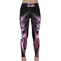 Angry Mantis Fractal In Shades Of Purple Classic Yoga Leggings by Nexatart
