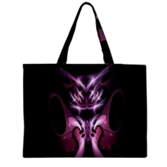 Angry Mantis Fractal In Shades Of Purple Medium Zipper Tote Bag by Nexatart