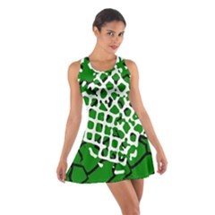 Abstract Clutter Cotton Racerback Dress