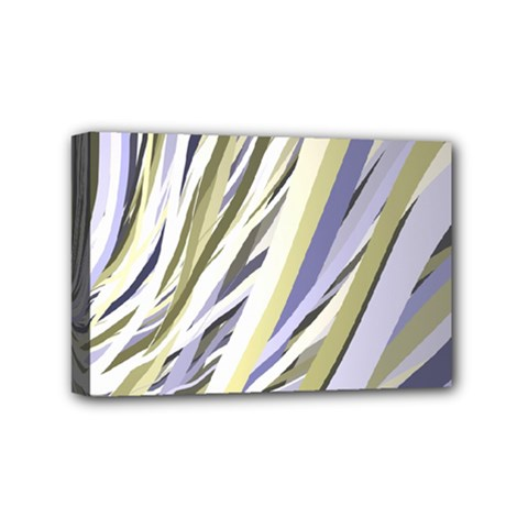 Wavy Ribbons Background Wallpaper Mini Canvas 6  X 4