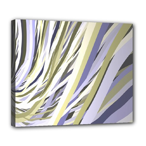Wavy Ribbons Background Wallpaper Deluxe Canvas 24  X 20   by Nexatart
