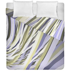 Wavy Ribbons Background Wallpaper Duvet Cover Double Side (california King Size) by Nexatart