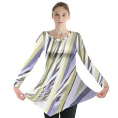 Wavy Ribbons Background Wallpaper Long Sleeve Tunic