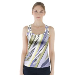 Wavy Ribbons Background Wallpaper Racer Back Sports Top