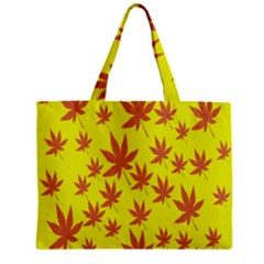 Autumn Background Zipper Mini Tote Bag by Nexatart